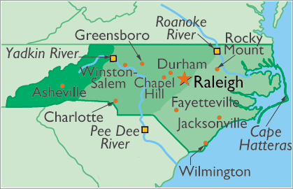 Map of Raleigh for new Home Owners