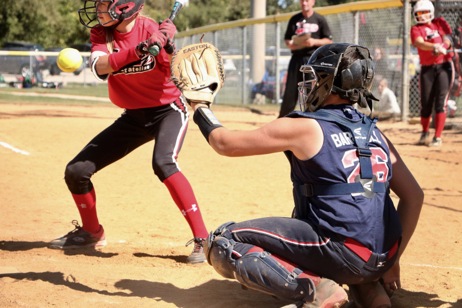 Softball catcher and batter